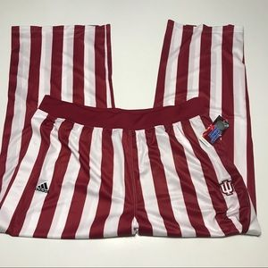 Indiana IU Hoosiers adidas Candy Stripe pants 3XL
